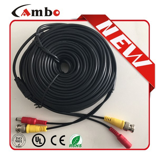 Tool Free video cable coaxial patch cord for cctv surveillance