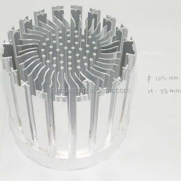 Led Extrusion Hollow Aluminum Circular Heat Sink For Led Ceiling ...