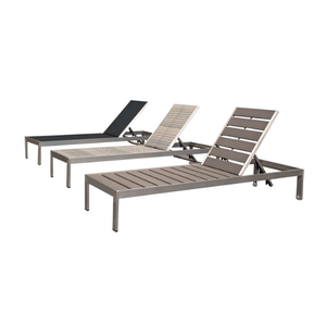 Israel Multi-step adjustable sythetic rattan Sun lounge plastic sun lounger/sun bed/chaise lounge