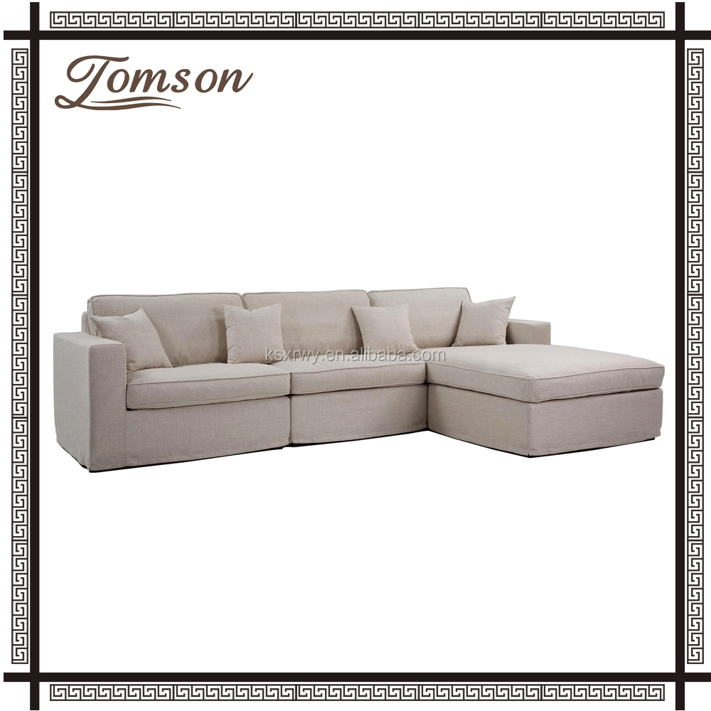 Upholstered Living Room Furniture Fabric Slipcover Feather Filling ...