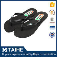 platform thin eva foam men flip flops black beach slipper women