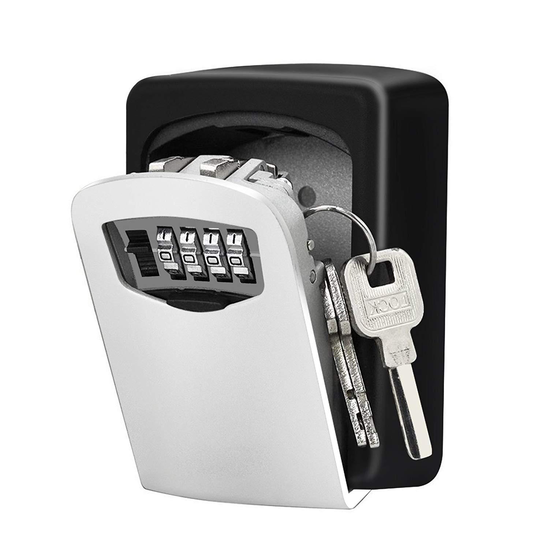 Lieomo Wall Mounted Key Lock Box,Combination Key Safe Storage Lock Box For House Home Garage School Spare Keys