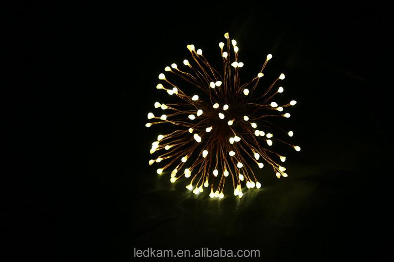 100 Led Firework Lights Copper Wire Led Fairy Lights Lights String ...