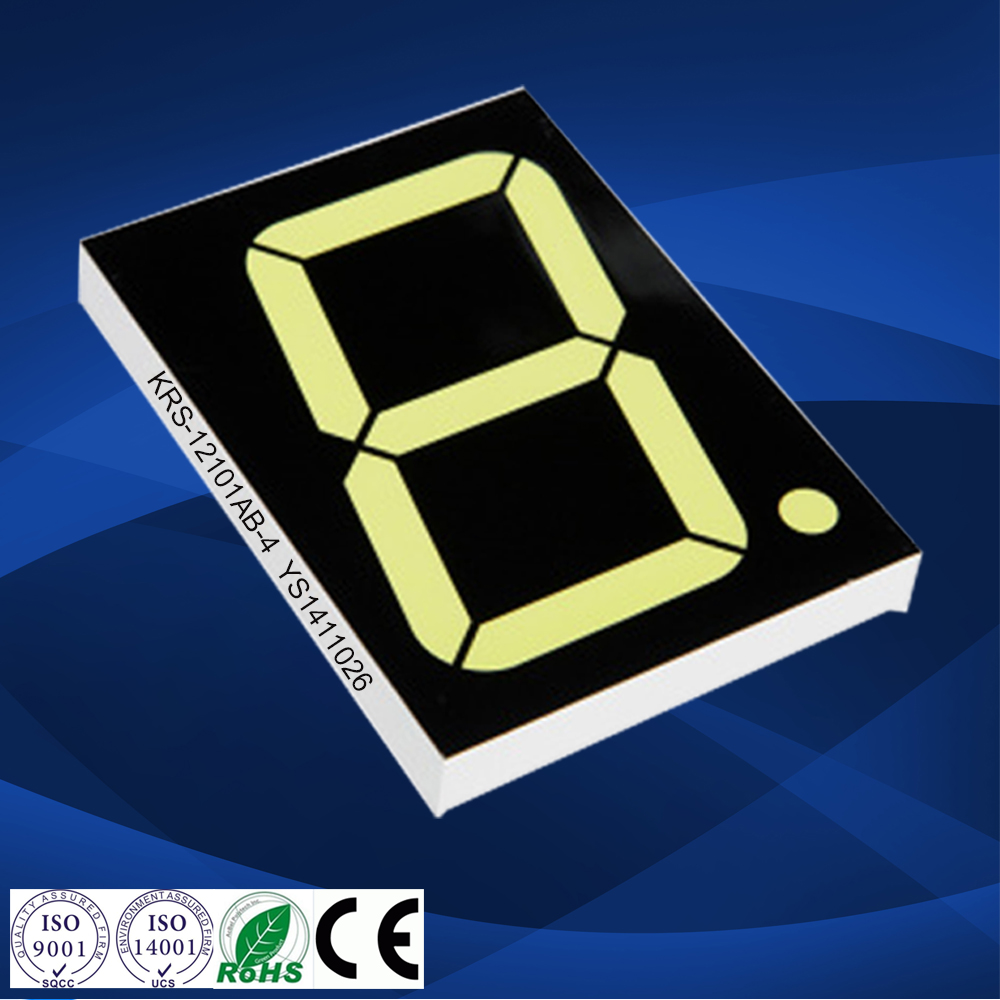 CC/CA Blue 1.2 inch 1 digit 7 segment led display 1.2'' single digit