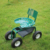 Rolling garden work scooter seat cart tool tray wheels