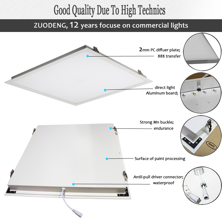 Hot Sale 600x600 Back Light 36w 50w Led Ceiling Panel Light China ...
