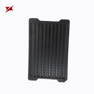 Popular ESD packing black plastic PET/PS electronics blister tray
