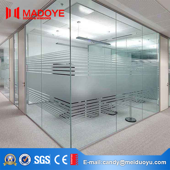 Aluminum Material Tempered Glass Sliding Doors Office