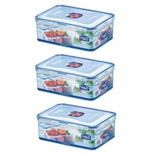 Get Quotations · (Pack Of 3) LOCK U0026 LOCK Airtight Rectangular Food Storage  Container 87.92 Oz