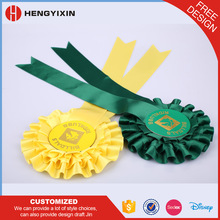 China manufacturer polyester ribbon rosettes
