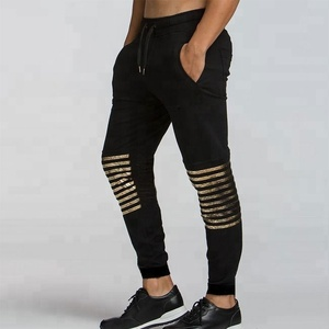 New design high quality 100%Cotton jogging pants for men