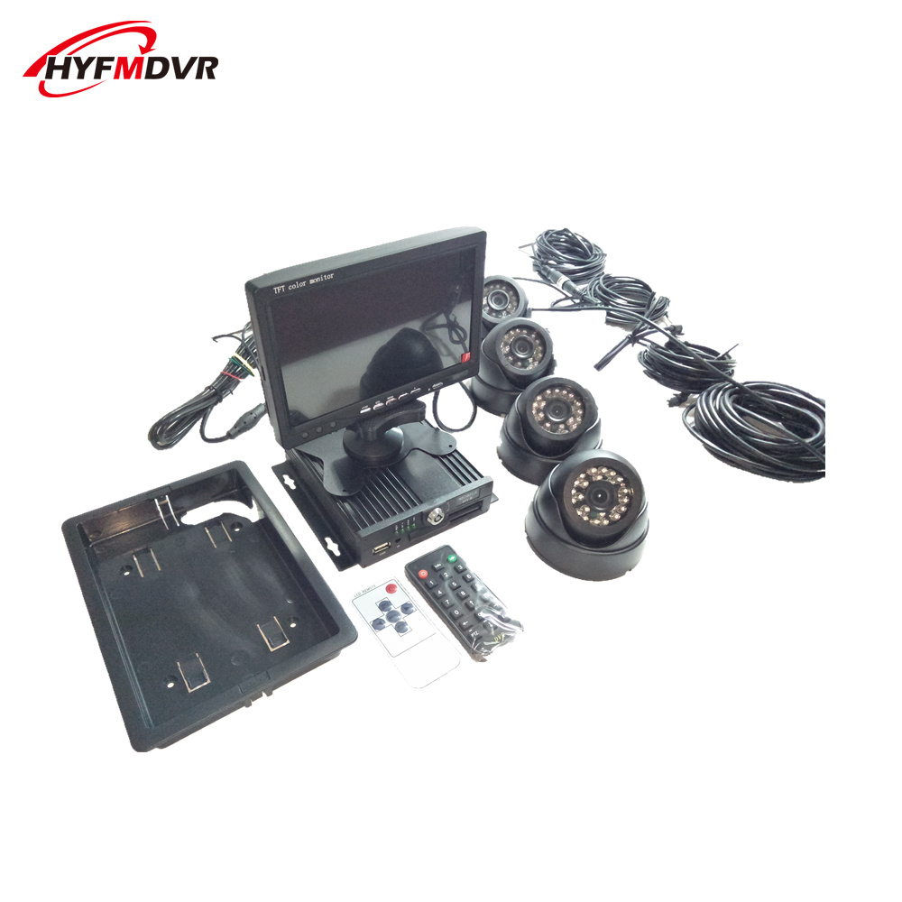 manufacturers are now granted a full range of on-board monitoring equipment car dvr 4 channel video recorder mobile dvr