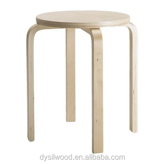 Wholesale cheap foot stackable bentwood stool