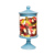 Custom christmas decoration ceramic cupcake pedestal glass lolly candy jars with lid