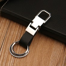 cheaper promotional keychains,customize logo keyring,metal leather carabiner keyring
