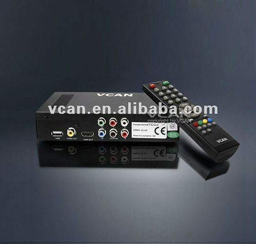 Dvb-t mpeg4 decoder DVB-T2009HD-440 portable HD Car digital DVB-T Receiver with 250KM/Hour