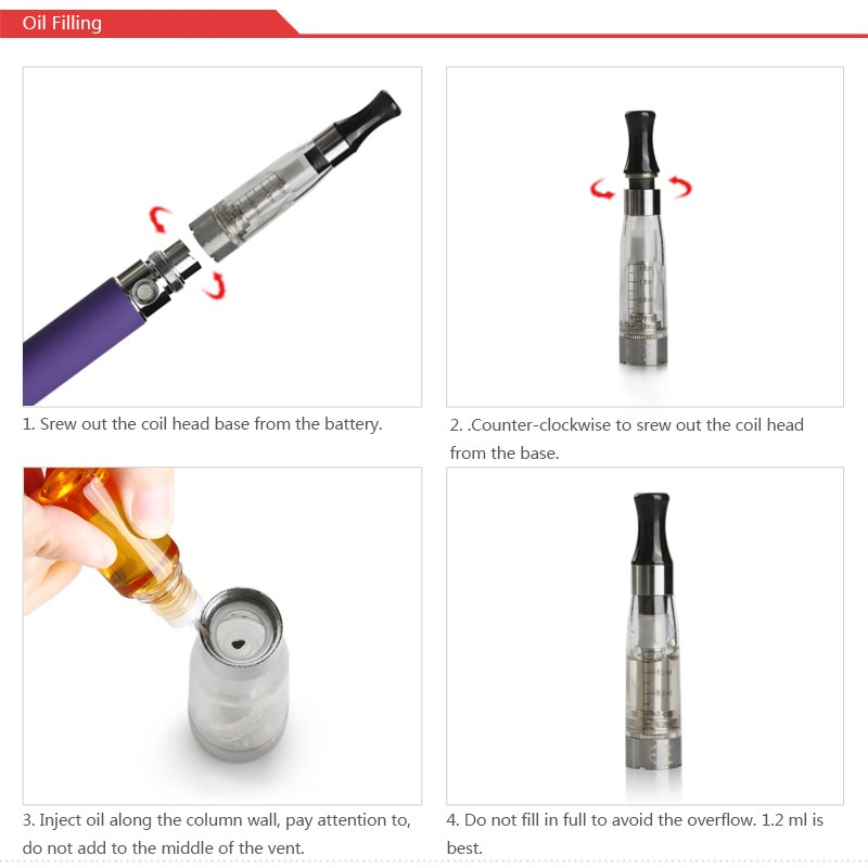 Best Seller USB Pass Through Battery eGo Starter Kit 650mAh Electronic Refillable E-cigarette CE4 clearomizer from manufacturer