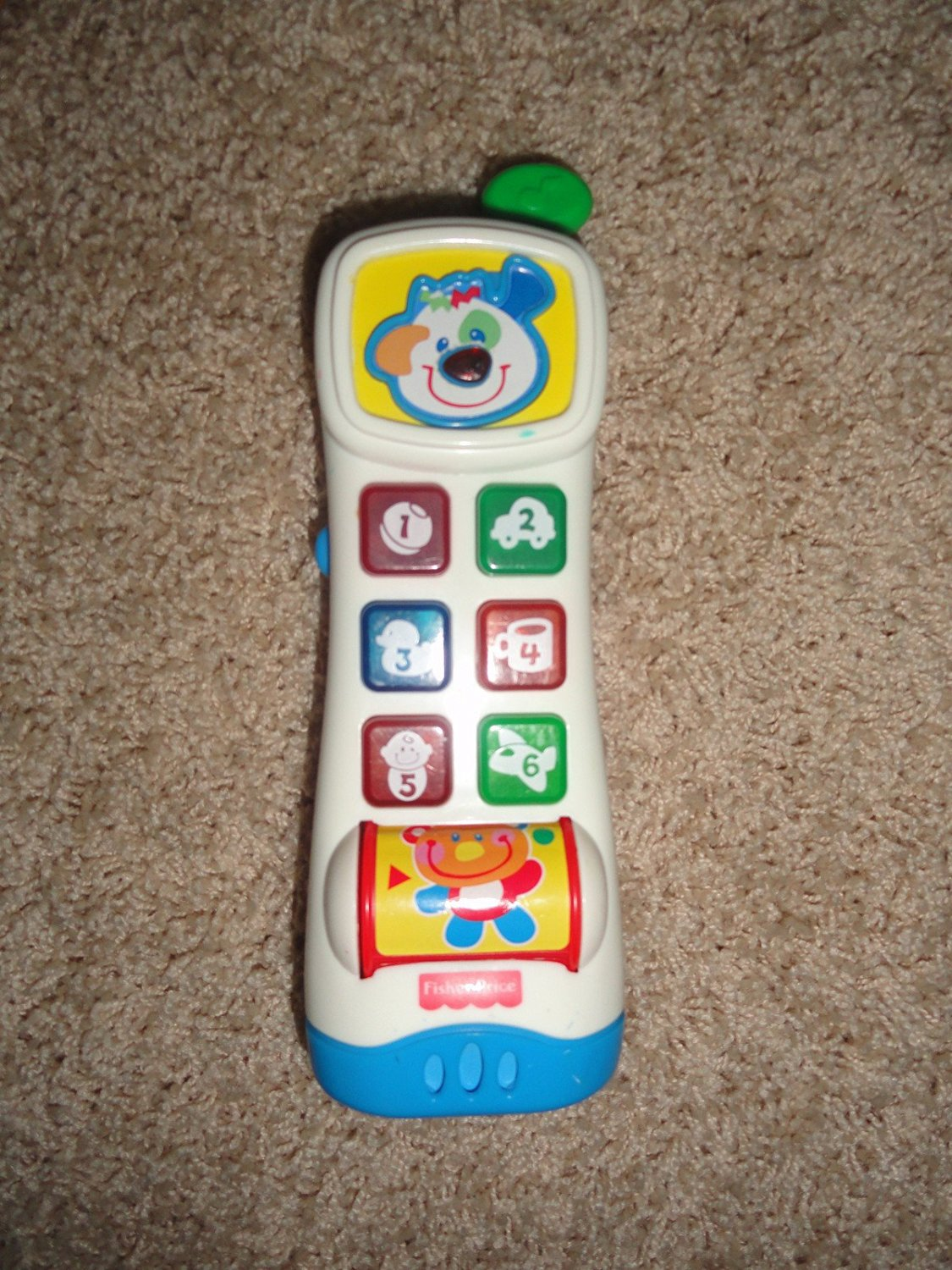 Fisher Price Learning Phone Baby Toddler Pretend Music Do g Face Teddy Bear