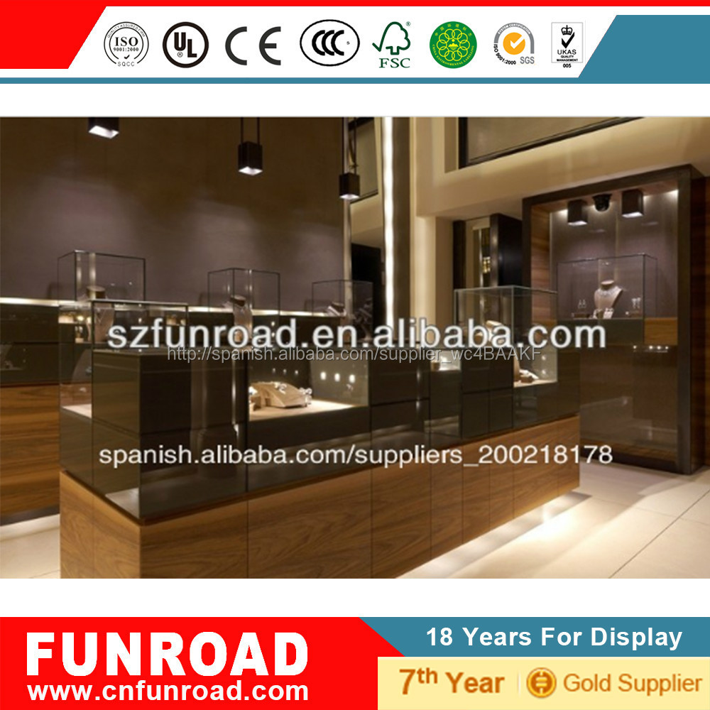 Mostrador Exhibidor Cabinete Expositivo De La Joyer A De Muebles  # Muebles Para Joyeria