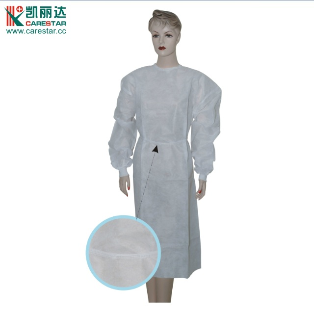 Disposable medical doctor gowns white