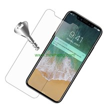0.3mm tempered glass screen protector film transparent clear case for iphone X