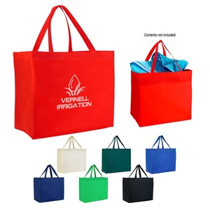 Promotional pp non-woven printed tote shopping bag wholesale/printable reusable non woven shopping bags with logo