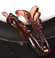 hotselling brown high quality japan plastic banana clip new hairstyle long hair