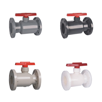 China PPH PVC Plastic Bodily Form Double Flange Type Ball Valve