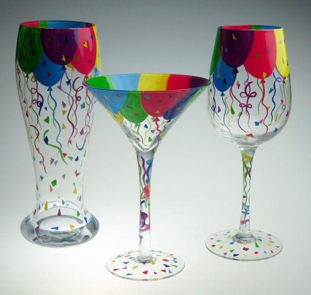 Vitral Painted Wine Glasses