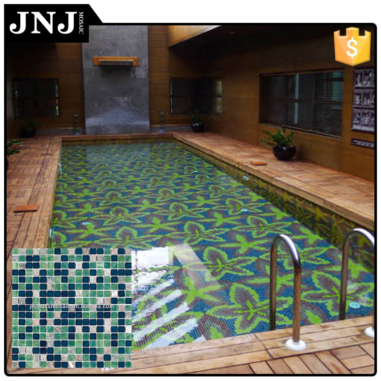 Standard Size Square Shaped Mosaic Tiles For Swimming Pools