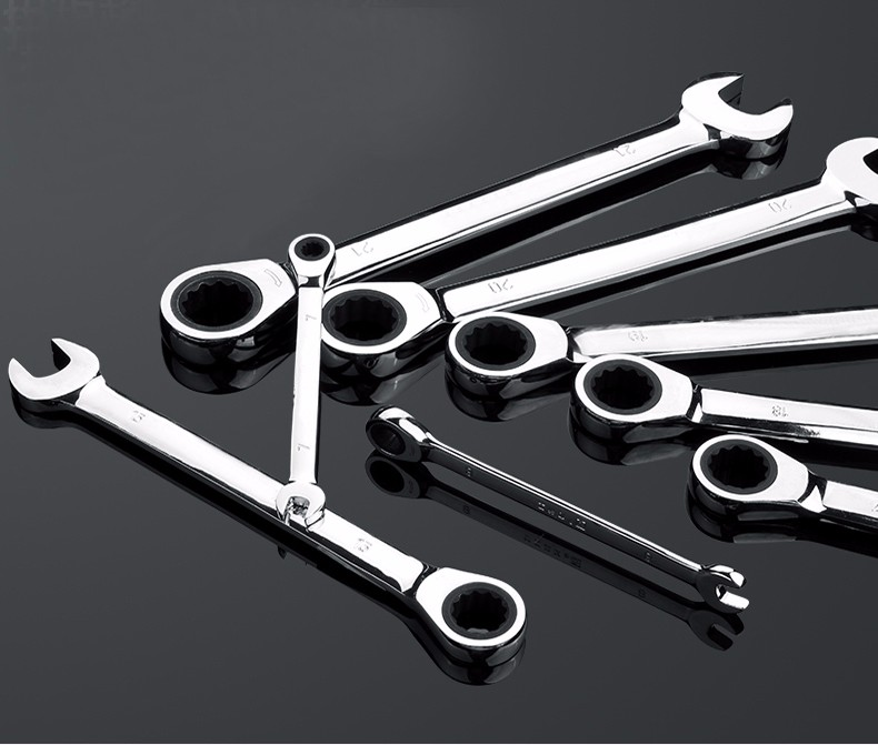 Set llave de carraca /17/mm 6pcs cabeza flexible Llave combinadas de trinquete multifunci/ón herramientas reparaci/ón 8/