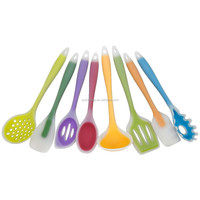 JK11008N 8-Pack Cooking Tools Silicone Kitchen Utensils - Silicone covers Nylon