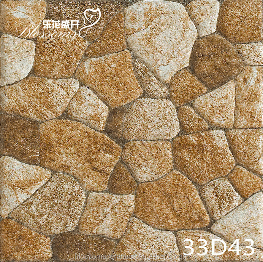 Non Slip River Stone Rustic Flooring Tile For Exterior