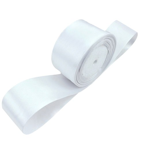 TOOGOO(R) 1 roll (25 yards/roll) 2'' (50mm) single face Satin Ribbon Webbing Decoration Gift Christmas Ribbons(white)