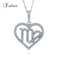 925 Silver CZ Zodiac Virgo Pendant necklace taxco mexico silver jewelry P50199