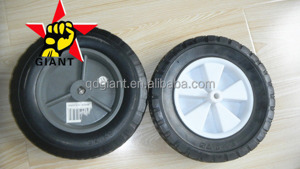 "8x1.75"" semi-hollow rubber wheel for lawn mower/garden cart/hand truck"