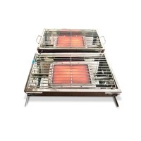 Stainless steel smokless barbecue grill infrared gas barbecue grill