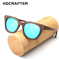 HDCRAFTER Hot selling handmade fashion wood glasses natural bamboo retro coated polarized sunglasses women and men