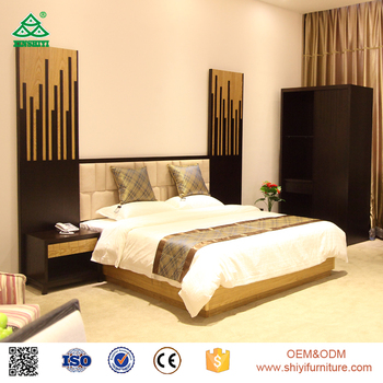 Hilton Hotel Bedroom Furniture Teak Wood And Plywood Double Bed Designs