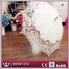 Wholesale Ivory Battenburg Lace Vintage Umbrella Parasol For Bridal Bridesmaid Wedding