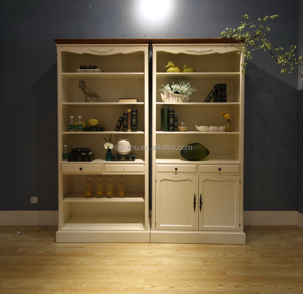 French Style And Country Style Rococo Bookcase Furniture With 2 ...