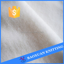 pure white 100% polyester flannel fabric