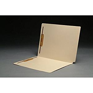 """14pt Manila Folders, Full Cut 2-Ply END TAB, Letter Size, Fastener Pos #1 & #3, SFI Style, 9-1/2"""" Front (Box of 50)"""