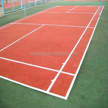 Spongy Colored Epdm Rubber Granules For Tennis Court Badminton Court - Spongy outdoor flooring