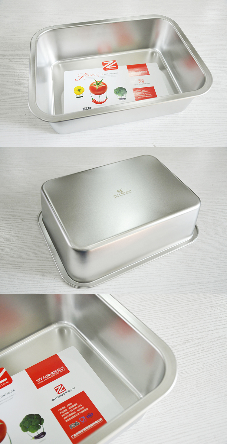 Stainless steel rectangle serving tray food square tray new style