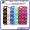 SHOWKOO New Arrival diamond pattern bling Soft pu tpu case for iphone 6