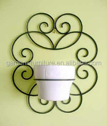Wall Hanging Flower Pots garden ornaments hanging plant stand wrought iron flower pot