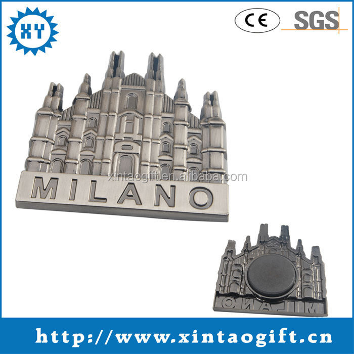 Plating antique silver magnetic name badge made in china