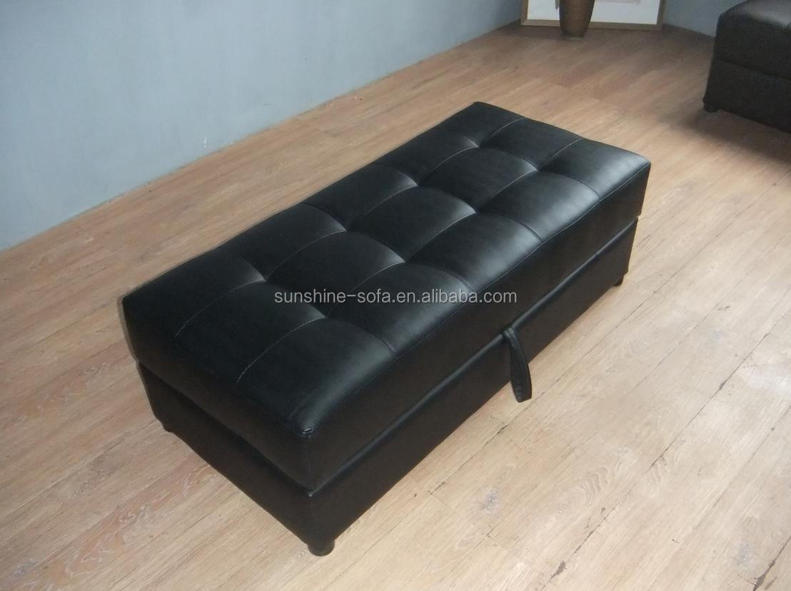 braunem leder sofa stuhl ottomane mit stauraum bett. Black Bedroom Furniture Sets. Home Design Ideas