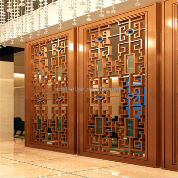 Cnc Bronze Metal Panel Stainless Steel Screen Partition